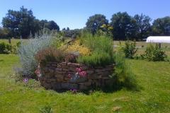 Spirale de plantes aromatiques